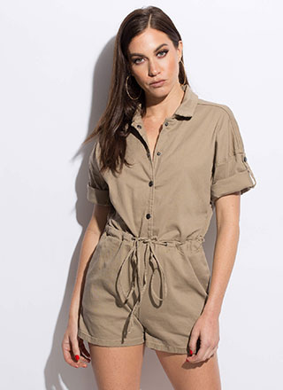 Easy Solution Drawstring Romper