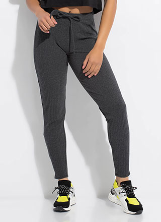 Warming Sign Rib Knit Leggings