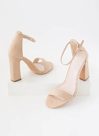 A Little Flare Ankle Strap Chunky Heels