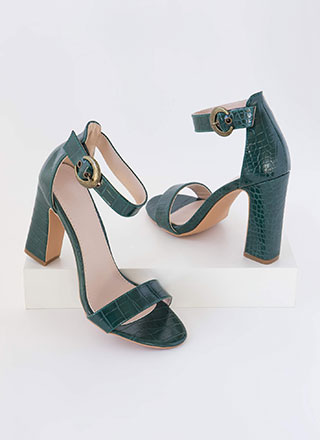 Cold-Blooded Reptile Chunky Heels