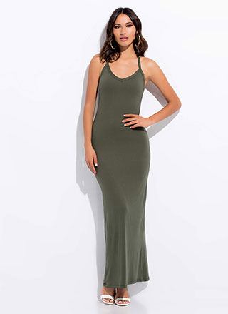 Take It Easy Racerback Maxi Dress