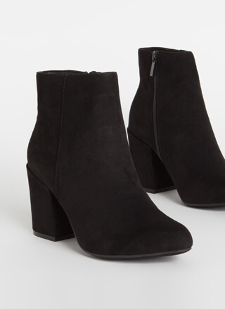 Around The Block Faux Suede Booties