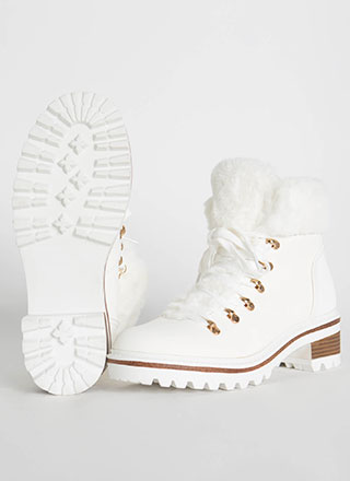 Fur The Cold Faux Nubuck Lug Boots