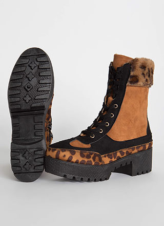 Fur The Better Cuffed Leopard Boots