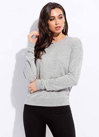 Getting Cozy Marled Knit Sweater