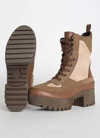 Soldier On Paneled Platform Boots