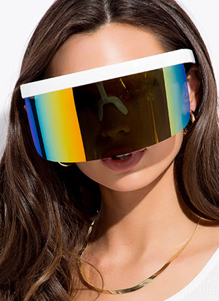 Your Fate Is Shield Visor Sunglasses