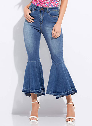 My Flare Lady Cropped Bell-Bottom Jeans