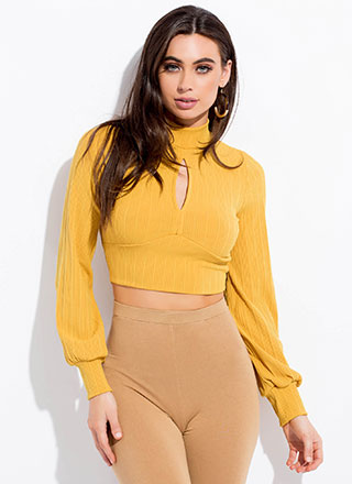 Cut Out For This Tie-Back Crop Top