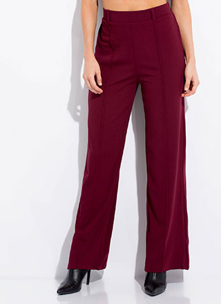 Wear The Pants Pleated Wide-Leg Slacks