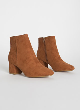 Flawless Execution Block Heel Booties