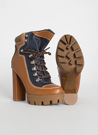 Majestic Paper-Bag Platform Booties