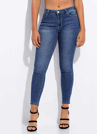 The Essentials Mid-Rise Skinny Jeans