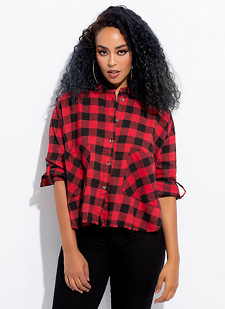 Check It Out Buffalo Plaid Flannel Top
