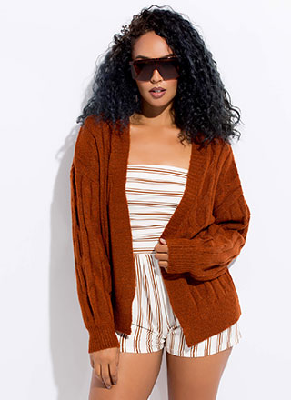 Sweater Weather Cable Knit Cardigan