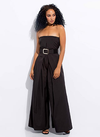 Wide Awake Pleated Palazzo Jumpsuit