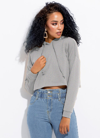 Sweatshirt Weather Cropped Hoodie