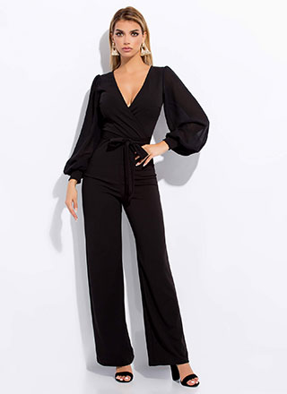 One-Piece Wonder Puffy Sleeve Jumpsuit