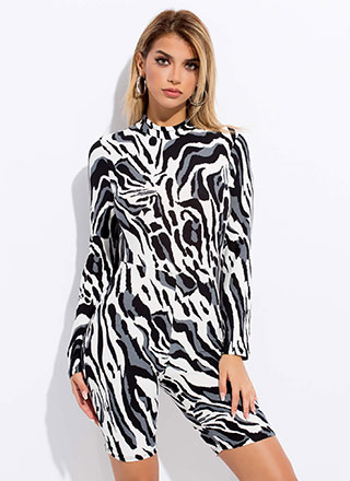 I Do What I Want Animal Print Romper