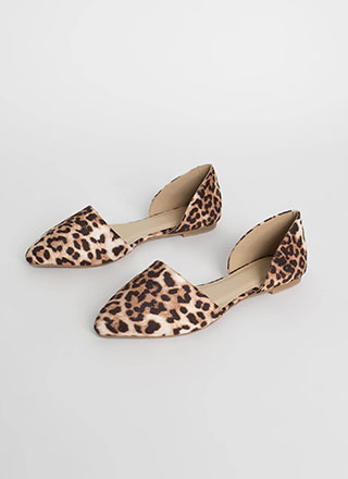Living In Leopard D'Orsay Flats