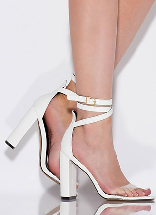 Wrap Goddess Clear Strap Heels