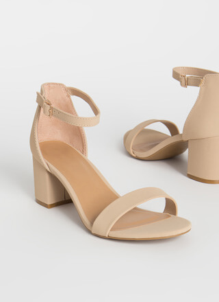 Up My Alley Faux Nubuck Block Heels