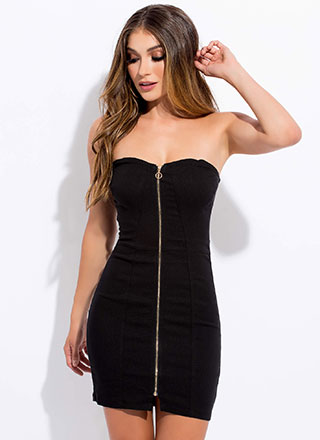 Zip Away Strapless Sweetheart Dress