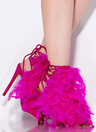 Feather Forecast Lace-Back Heels