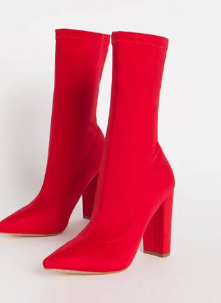 Tall Order Pointy Sock Booties