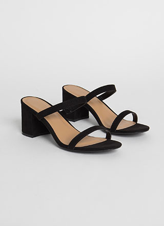 Two Cute Strappy Chunky Block Heels