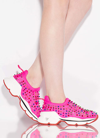 Heart Rate Spike Studded Sneakers
