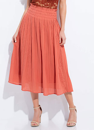Twirl On Top Frilly Pleated Skirt