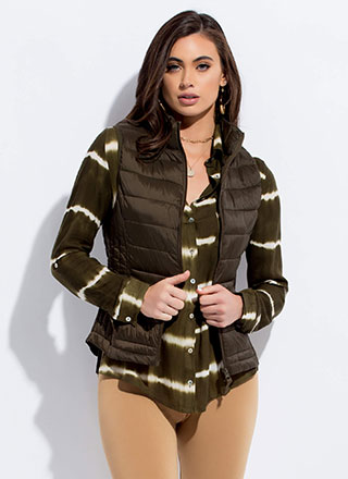 The Layers Club Quilted Puffy Vest