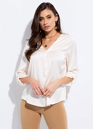 Cut Me Loose Silky Tunic Blouse