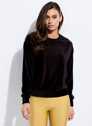 Beat The Plush Velvet Sweatshirt