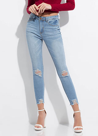Just Bitten Distressed Skinny Jeans