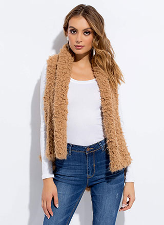 Too Cozy For Comfort Faux Shearling Vest