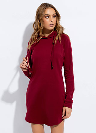 Cute And Casual Hoodie Minidress
