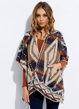 Room For Desert Tribal-Inspired Poncho