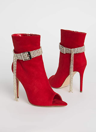 Luxe Be A Lady Jeweled Strap Booties