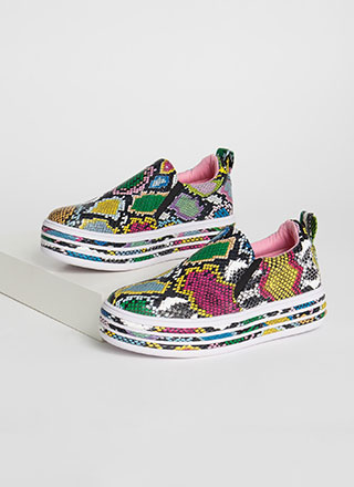 Snake Things Up Platform Sneakers