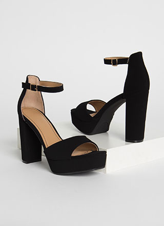Perfect Chunky Faux Nubuck Platforms