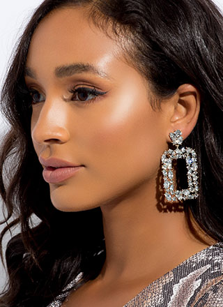 Feel Special Cut-Out Jeweled Earrings
