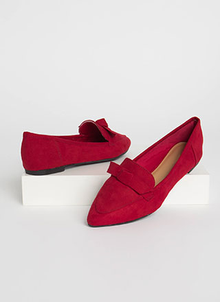 Knot To Worry Pointy Smoking Flats