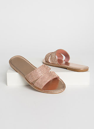 Everyday Sparkle Jeweled Slide Sandals