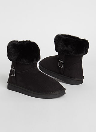 Fur Ever And Ever Short Cuffed Boots