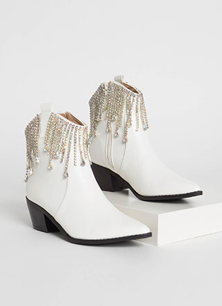 Drip Drip Jeweled Cowgirl Booties