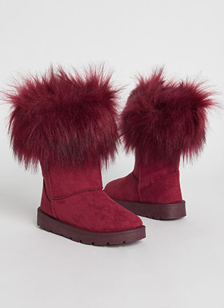 Snow Bunnies Trimmed Faux Fur Boots