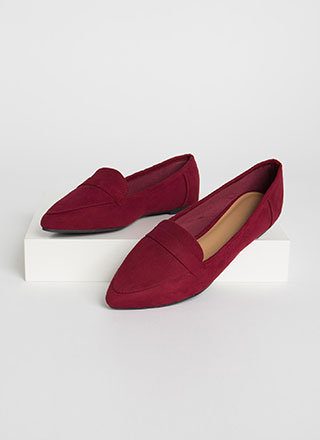Fashion Diary Faux Suede Loafer Flats