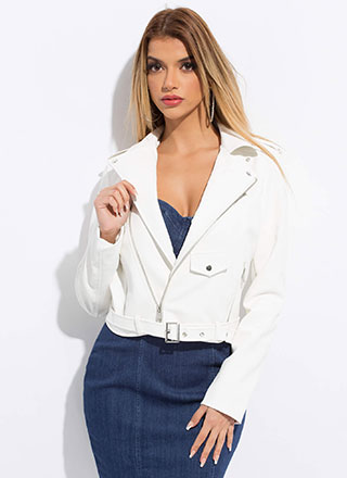 Keep Your Cool Faux Leather Moto Jacket